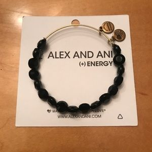 Alex and Ani Black Beaded Bracelet